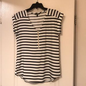 LIKE NEW! Express black and white strip blouse